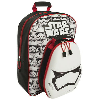 NEW OFFICIAL Star Wars Kids Large Backpack Rucksack School Bag with Lunch Bag