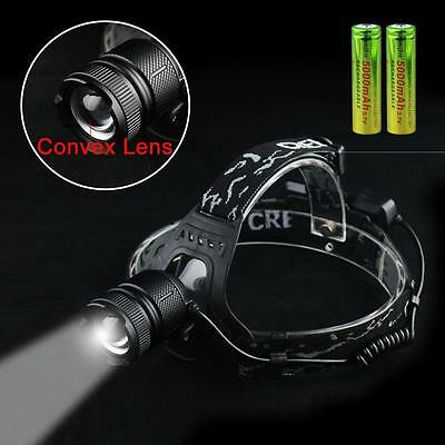 40000LM CREE XML T6 LED USB Headlamp Rechargeable Headlight 18650 Head Torch BG