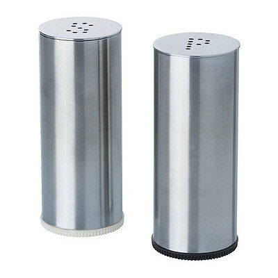 Salt and Pepper Shaker Set of 2  Stainless steel PLATS IKEA