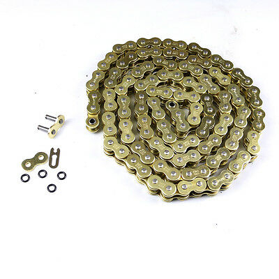 Heavy Duty O-Ring Motorcycle Dirt Bike MX Chain 520 Pitch 120 Links Gold