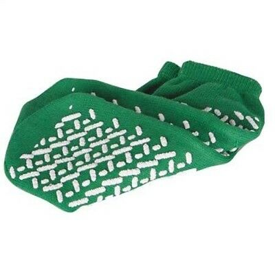 Medline Single-Tread Slippers Green, Medium - 1 Each (Pack Of 6)