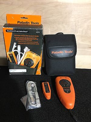Paladin Tools # 1576 Data/link ID Cable-check Tester New