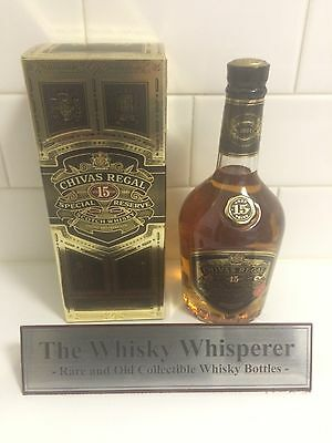CHIVAS REGAL 750ml 15 Year Old Special Reserve Scotch Whisky bottle In Box