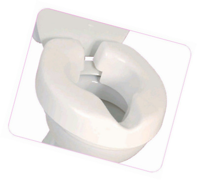 Toilet Seat Riser Elongated Portable Smooth Convenient Clip On Easy Fit Stable