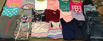 Girls Sz 14-16 Huge Back To School Lot Shirts Shorts Tanks Hoodie Old Navy +
