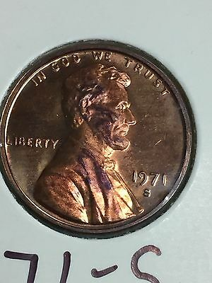 {BJSTAMPS} 1971-S Lincoln Cent Proof Penny 1C Red
