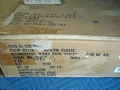 BRENNER X-RAY FILM ILLUMINATOR MODEL FI-0212 APPROX 18x15! O1