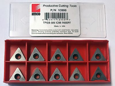 IMCO TPGB-322 IC55 Uncoated Carbide Inserts (10 PCS)