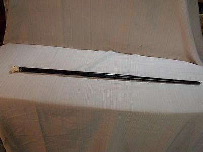 "19Th Century Gentleman's Ebony 32 1/2"" Walking Stick"