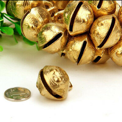 16MM 50PCS Tibetan Brass Bells Beads Craft Tiger's head Small Metal Ethnic
