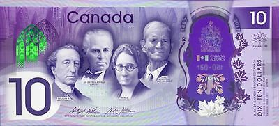 CANADA 2017 New $10 Polymer Banknote 150th Anniversary of CANADA (Gem UNC)