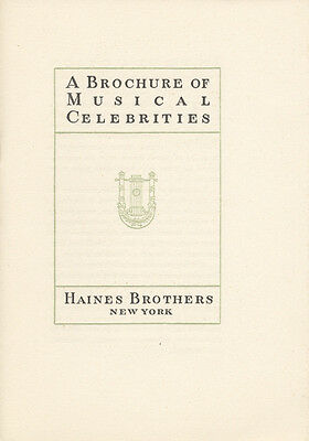HAINES BROSNEW YORK (Opera): A Brochure of Musical Celebrities. [1970]