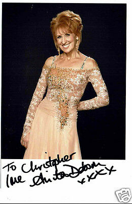 Anita Dobson Actress Hand Signed Photograph 6 x 3