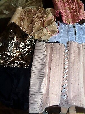 Job Lot Vintage Corsets Girdle Basque  7 Items k49