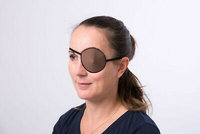 Medical Eye Patch, BROWN Soft and Washable for Left or Right Eye