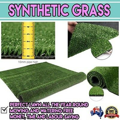 Artificial Synthetic Fake Grass 20 SQM Artifical Turf Flooring 15mm Olive Carpet