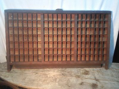 "Vintage Large Wood Printers Type Case!  32"" x 16.5"" With 147 Sections!"