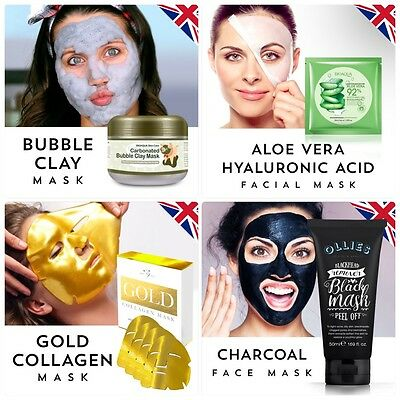 Facial Face Sheet Mask Set Anti Aging Wrinkle Reduction Moisturizing Hydrating