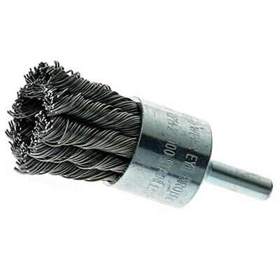 "1"" Wire Knot End Brush Stainless Steel with 1/4"" Shank For Die Grinder or Drill"