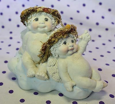 Dreamsicles Angel Cherub Figurine STAR GAZERS Gazing Pointing Cloud DC308 Signed