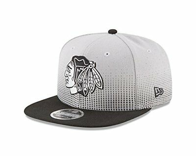 NEW NHL Chicago Blackhawks Flow Team Snap Black 9Fifty Cap One Size Gray