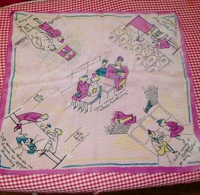 1940's chiffon hankerchief with pictures of Hitler on it