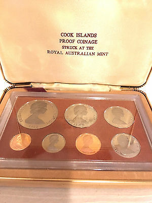1973 Cook Islands Proof, 7 Coin Set, Franklin Mint, TANGAROA GOD COIN