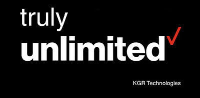 Verizon Truly Unlimited & Unthrottled 4G LTE Data - One Month - 55+ SOLD