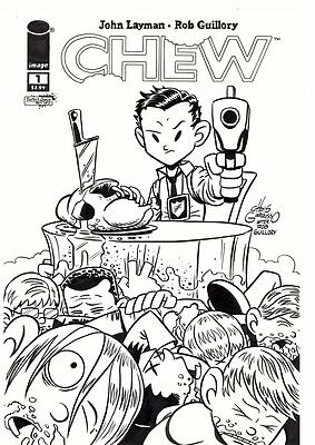 2012, Chris Giarrusso, Chew #29 Variant Cover, Homage To Rob Guillory's Chew #1