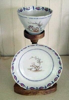 Chinese Export Porcelain Famille Rose Cup & Saucer, c. 1780