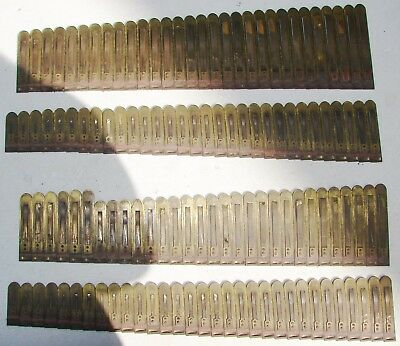 122 Brass Reeds from Kimball Pump Organ Antique Parts Crafts Repurpose Used