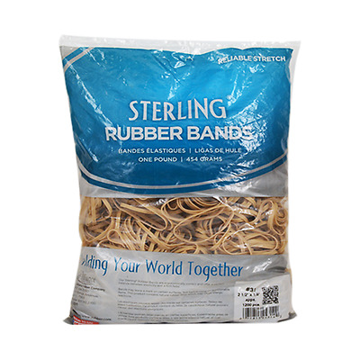 Elastic Rubber Band Size 31 2-1/2 x 1/8 1200ct 1 Lb Pack For Universal General