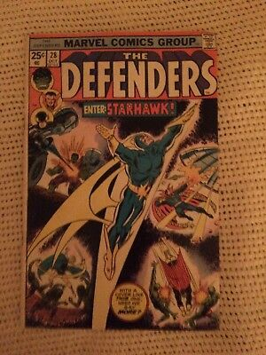 The Defenders #28 (Oct 1975, Marvel) 1st Print