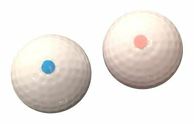 Gender Reveal Exploding Golf Balls Set (1 Pink & 1 Blue Ball) - Perfect F...