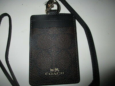 Coach Brown/Black Lanyard ID - F63274- NWT