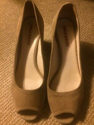 Flats Prada Authentic Ladies Shoes Size 37 Made In Italy