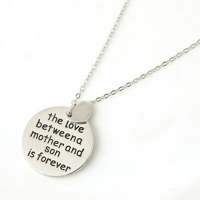gold Silver Family Love Heart couple Necklace Pendant Women Charm Chain Jewelry