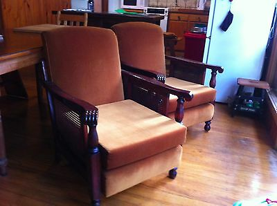 cane sided antique lounge suite
