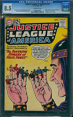 Justice League of America 10 CGC 8.5 (DC, 1962) 1st app Felix Faust & many more!