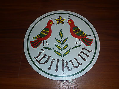 Vintage Wilkum sign Jacob Zook goldfinches and wheat