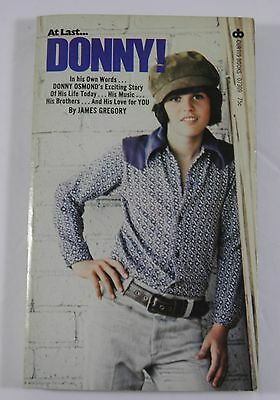 Donny! By James Gregory Paperback Book Donny Osmond Bio (1973)