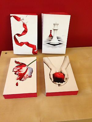 Twilight Saga Stephanie Meyer Limited Edition White Cover Books With Red Pages