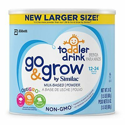 Go & Grow By Similac Non-GMO Milk Based Toddler Drink, Large Size Powder,...