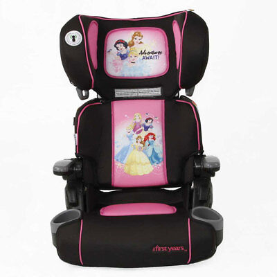 Disney Princess The First Years Folding Booster Seat/4 to 8y/Cup Holder/Car/Kids