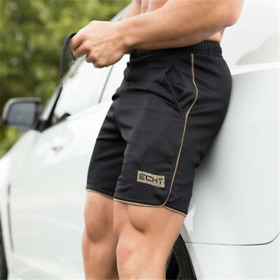 Quick Dry Bodybuilding Men's Sports Training Summer Shorts Workout Fitness GYM