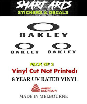 Oakley Stickers Decals 3 PaCK Quality Vinyl Sunglasses Eyewear Goggles Visors