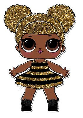 Iron on Transfer LOL DOLL QUEEN BEE 10x14 cm