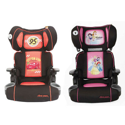 The First Years Disney Folding Kid Booster Car Seat 4-8yo w/ Cup Holder