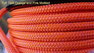 Tuff Tack Equestrian Orange and Pink Mottled 100% Polyester Double Braid Rope