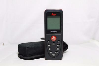 Leica Disto D3 Multi Function Laser Measure w/ Case and Manual Distance Incline
